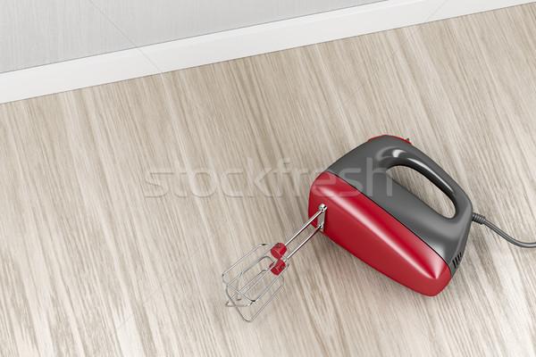 電気 ミキサー キッチン 木材 ツール ストックフォト © magraphics