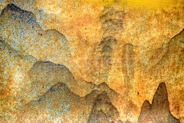 Grunge Rusty manchado textura resumen diseno Foto stock © mahout