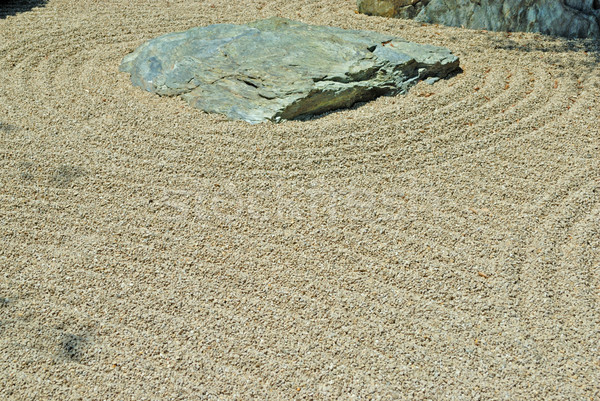 Stone in japanese zen garden Stock photo © mahout