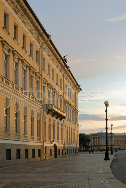 West wing of General Staff Building in Saint-Petersburg Stock photo © mahout