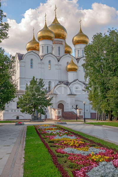 Stock photo: Orthodox cathedral in Yaroslavl. Russia