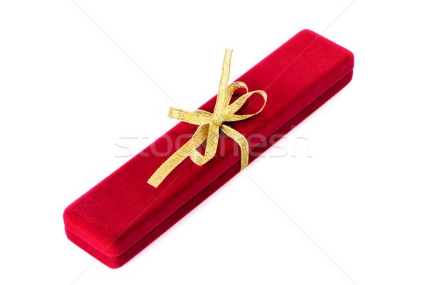 Joyas cuadro aislado blanco oro cinta Foto stock © mahout
