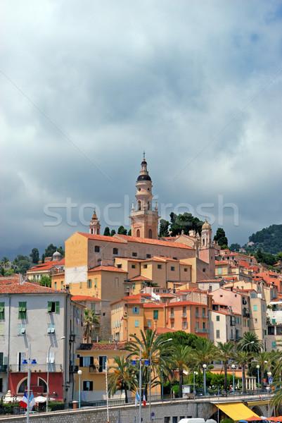旧市街 教会 フランス語 紺碧 海岸 空 ストックフォト © mahout