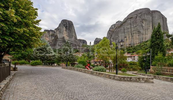 Pequeño pueblo rocas Grecia central cuadrados casa Foto stock © mahout