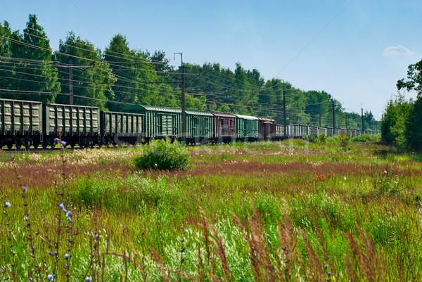 поезд лет пейзаж лес промышленности промышленных Сток-фото © mahout