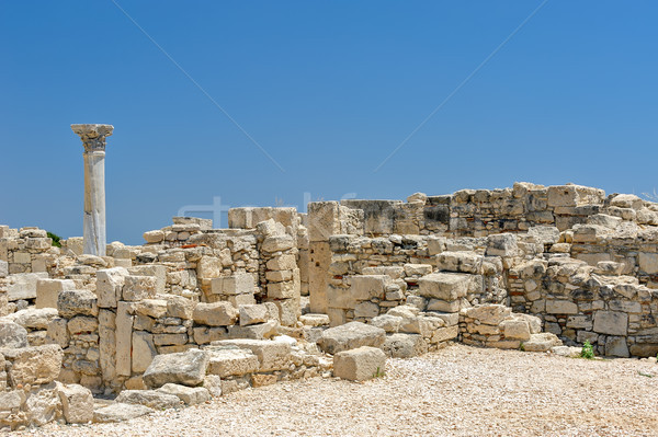 Ruins of ancient town on Cyprus Stock photo © mahout
