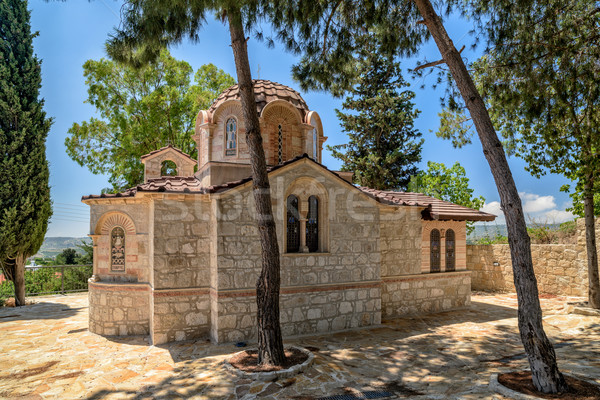Small church in village on Cyprus Stock photo © mahout