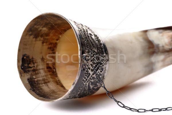 Сток-фото: питьевой · Роге · изолированный · белый · дизайна · фон