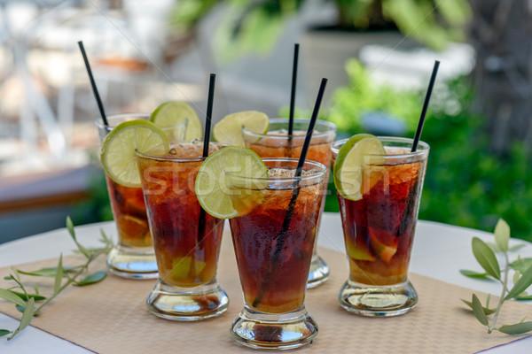 眼鏡 ラム酒 カクテル フルーツ ガラス 緑 ストックフォト © mahout