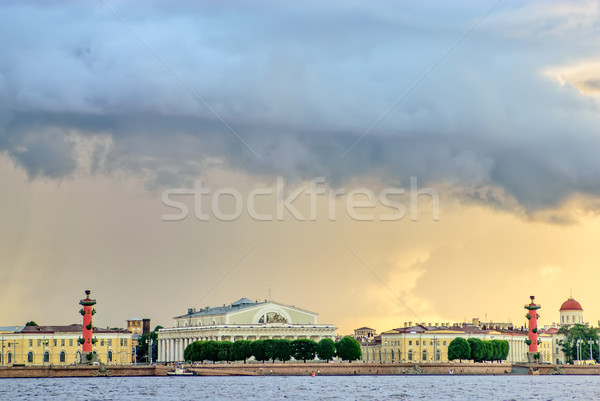 Thunderstorm clouds over St. Petersburg Stock photo © mahout