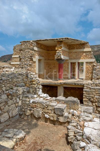 Saray Yunanistan arkeolojik mimari Avrupa Stok fotoğraf © mahout