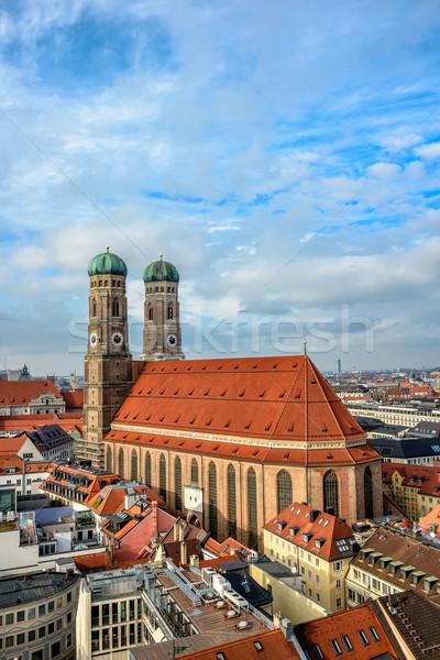 Catedral Munique famoso edifício cidade urbano Foto stock © mahout