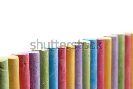 Color crayons arranged in line Stock photo © mahout