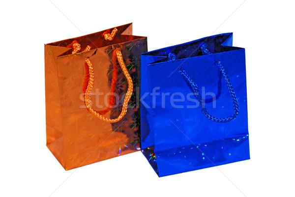 Cor conjunto papel aniversário compras Foto stock © mahout