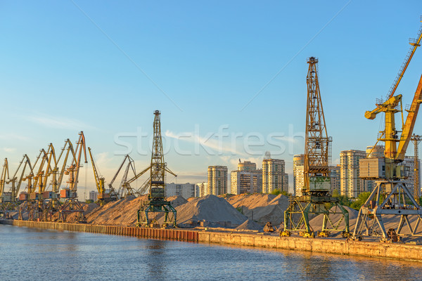 Fret port ciel mer sable industrielle Photo stock © mahout