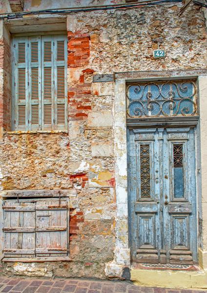 Гранж каменной стеной старые двери окна Сток-фото © mahout