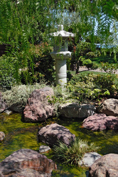 Stone lantern in Japanese garden Stock photo © mahout