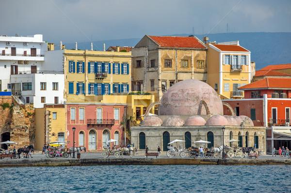 Oude haven Griekenland venetiaanse gebouw zomer Stockfoto © mahout