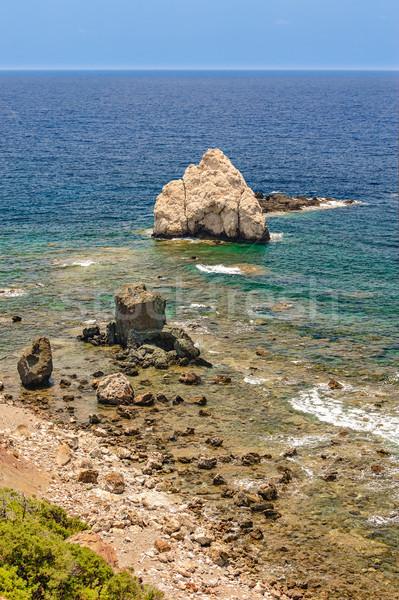 Zee kust landschap strand schoonheid Stockfoto © mahout