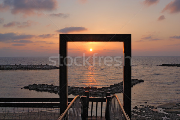 Amanecer mar cielo agua naturaleza Foto stock © mahout