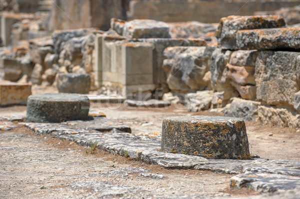 Phaistos palace archaeological site on Crete Stock photo © mahout