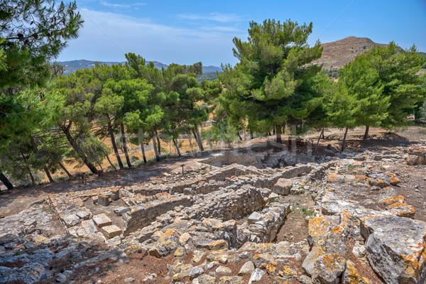 Saray Yunanistan arkeolojik gökyüzü şehir Stok fotoğraf © mahout