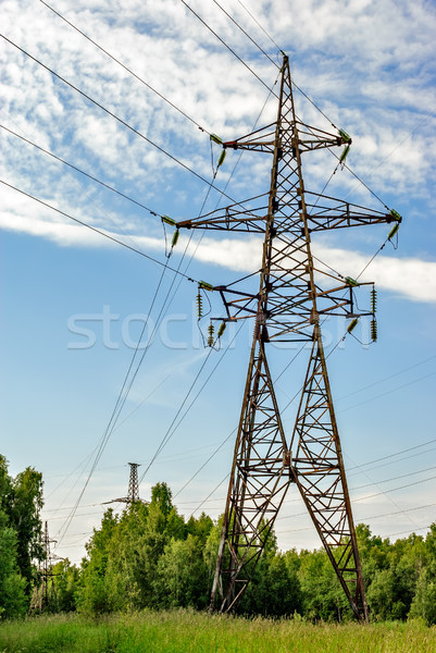 High voltage power lines Stock photo © mahout