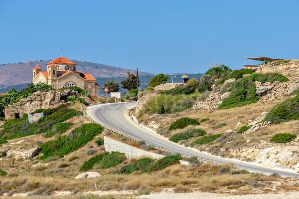 Iglesia Chipre paisaje cielo naturaleza verano Foto stock © mahout