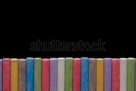 Color crayons in line Stock photo © mahout
