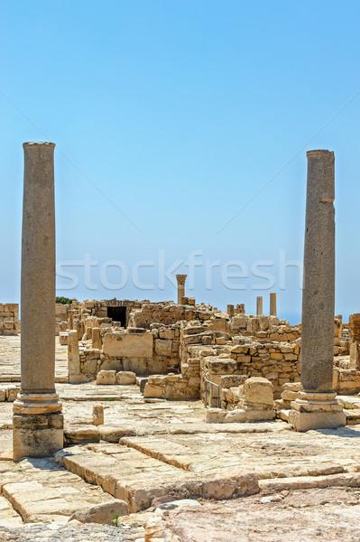 руин древних города Кипр путешествия каменные Сток-фото © mahout
