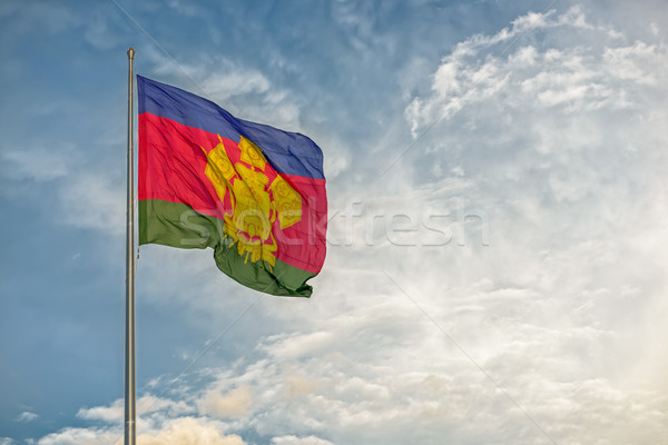 флаг русский регион ветер небе Сток-фото © mahout