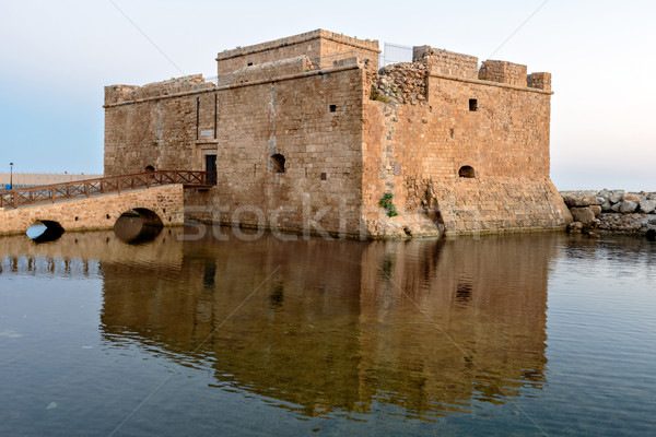 Medieval fort in Paphos port Stock photo © mahout