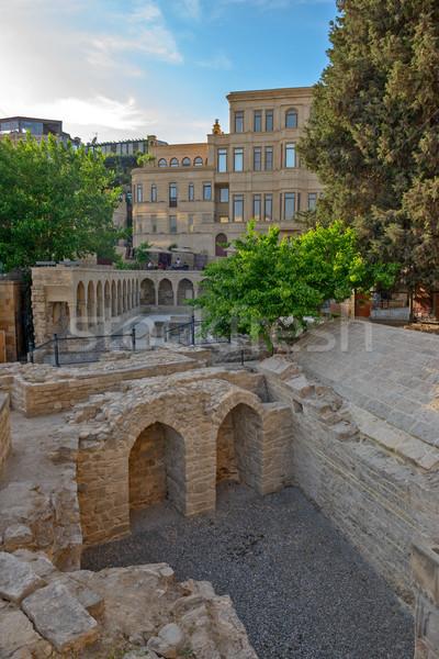 óváros központ város Azerbajdzsán épület kő Stock fotó © mahout