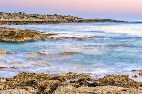 Mar costa movimiento borroso superficie playa Foto stock © mahout
