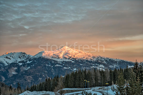 Sunrise in Austrian Alps Stock photo © mahout