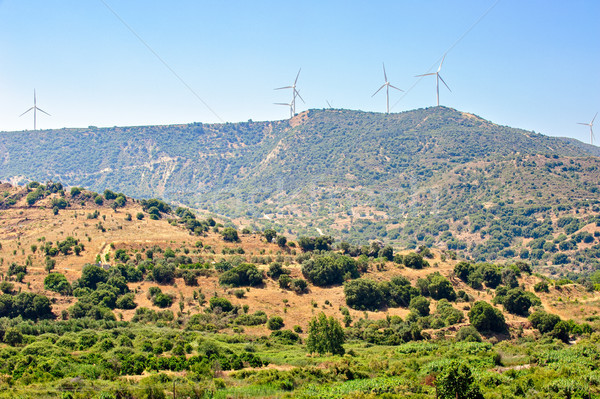 Wind farm on Cyprus Stock photo © mahout