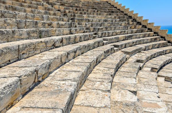 Passos antigo viajar pedra escada estádio Foto stock © mahout