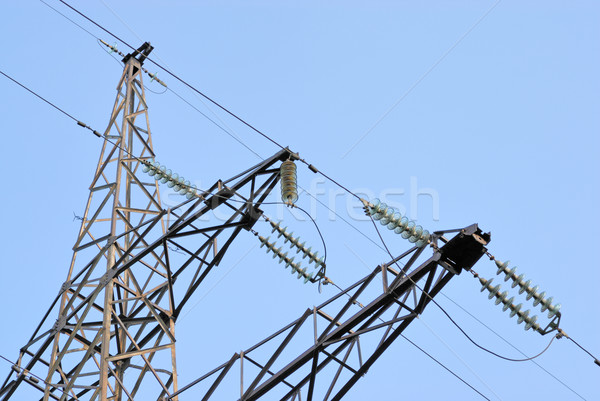 High voltage powerline Stock photo © mahout