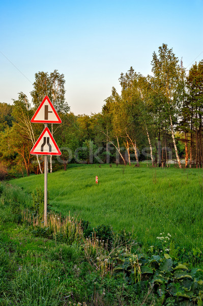 Signs on roadside Stock photo © mahout