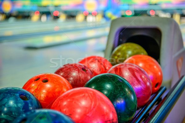 Bowling achtergrond leuk Stockfoto © mahout