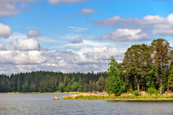 Landscape with islands in finland gulf Stock photo © mahout