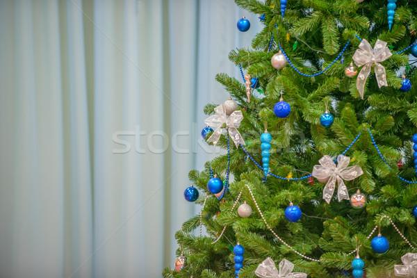 árbol de navidad decorado árbol verde oro blanco Foto stock © mahout