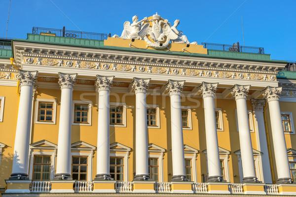 фасад лев дворец небе дома город Сток-фото © mahout