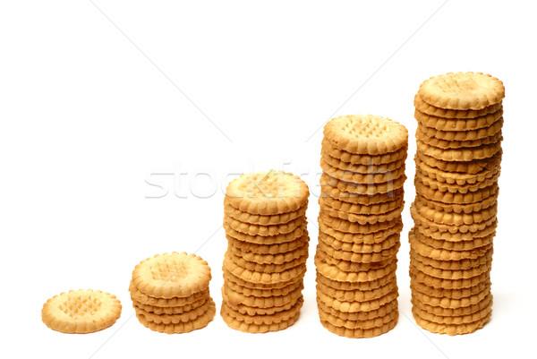 Stock fotó: Felemelkedik · grafikon · ki · sütik · izolált · étel