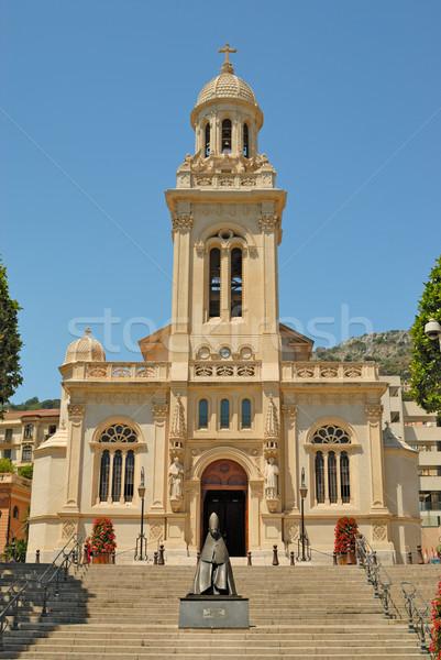 Igreja Mônaco casa atravessar viajar pedra Foto stock © mahout