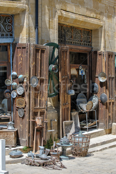 Antique magasin nord Chypre rue Photo stock © mahout