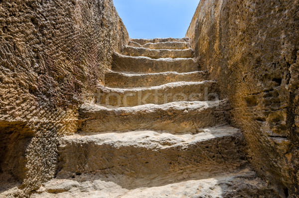 Steps to tomb in archaeological museum Stock photo © mahout