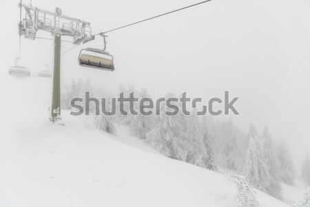Blizzard ski Resort forêt nature neige Photo stock © mahout