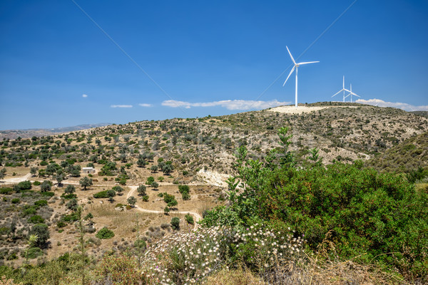 Wind power plant Stock photo © mahout