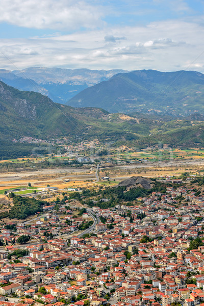 Aerial view of small town in Greece Stock photo © mahout